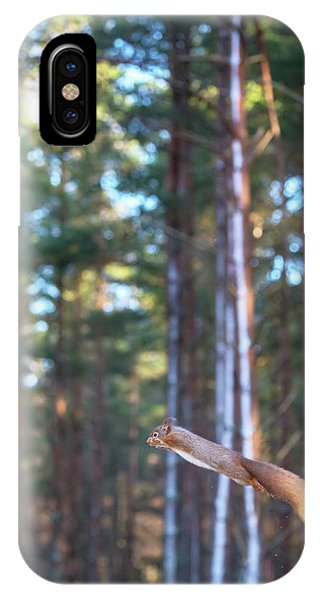 Leaping Red Squirrel Tall IPhone Case