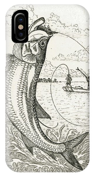 King Charles iPhone Case - Leaping Tarpon by Charles Harden
