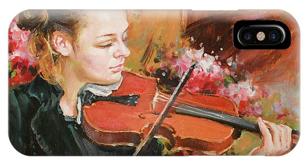 Violin iPhone Case - Learning The Violin by Conor McGuire
