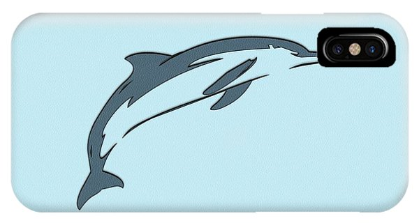 leather Dolphin IPhone Case