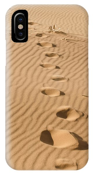 Leave Only Footprints IPhone Case
