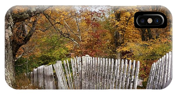 Leaves Along The Fence IPhone Case