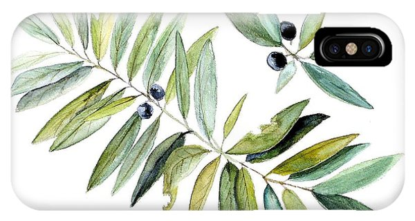 Leaves And Berries IPhone Case