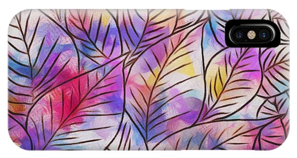 Leaves Colorful Abstract Design IPhone Case