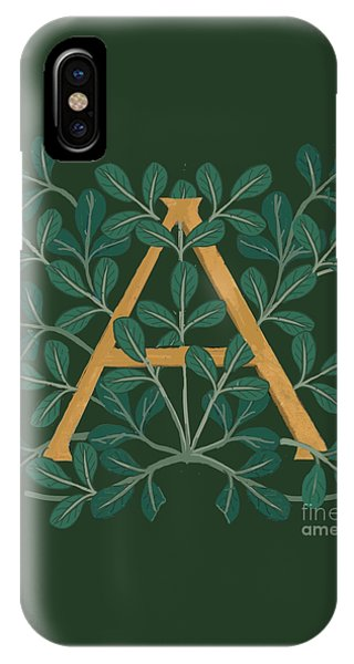 Leaves Letter A IPhone Case