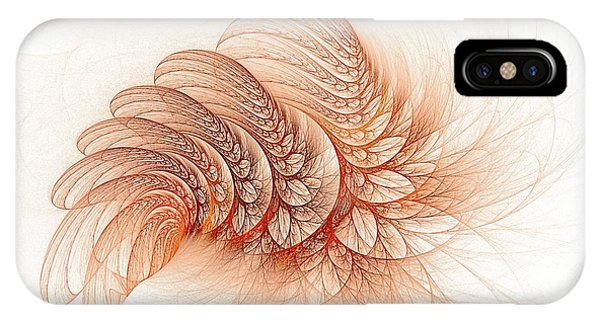 Leaves Of The Fractal Ether-2 IPhone Case
