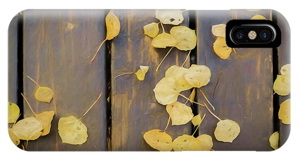 Leaves On Planks IPhone Case