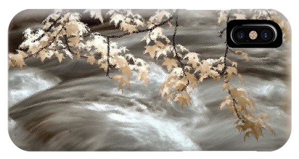 Leaves Over Gossamer Waters IPhone Case