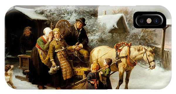 Swedish Painters iPhone Case - Leaving Home  by Bengt Nordenberg