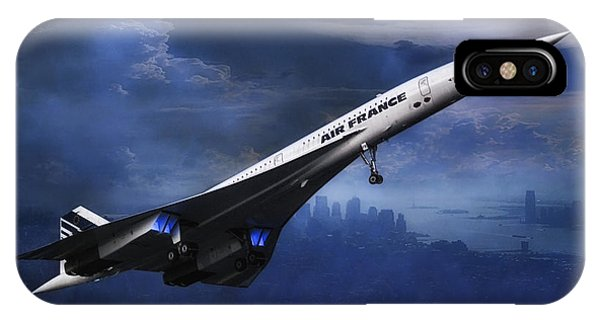 Concorde iPhone Case - leaving New York by Joachim G Pinkawa