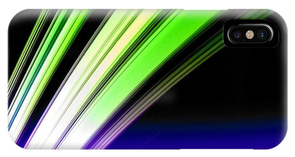 Leaving Saturn In Cobalt And Lime IPhone Case