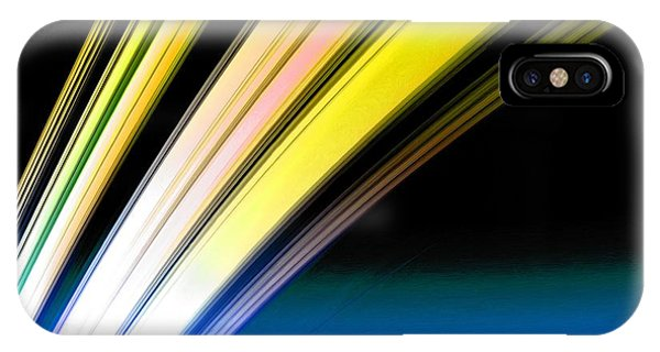 Leaving Saturn In Gold And Blue IPhone Case