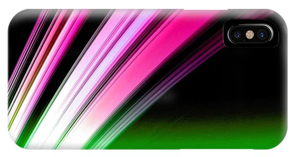 Leaving Saturn In Hot Pink And Green IPhone Case