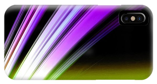 Leaving Saturn In Purple And Electric Green IPhone Case