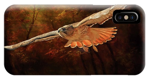 Red Tail Hawk iPhone Case - Leaving The Enchanting Forest by Donna Kennedy