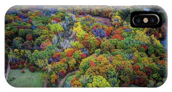 Lebanon Hills Park Eagan Mn Autumn II By Drone IPhone Case
