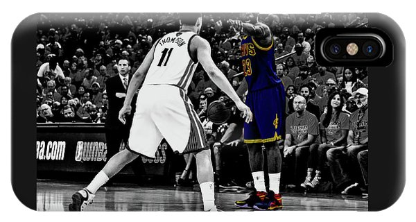 Kyrie Irving iPhone Case - Lebron Directing Traffic by Brian Reaves