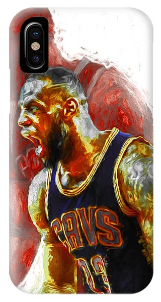 Lebron James 23 1 Cleveland Cavs Digital Painting IPhone Case