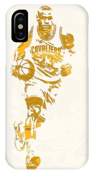 082de38598a1 Lebron James iPhone Case - Lebron James Cleveland Cavaliers Pixel Art 11 by  Joe Hamilton