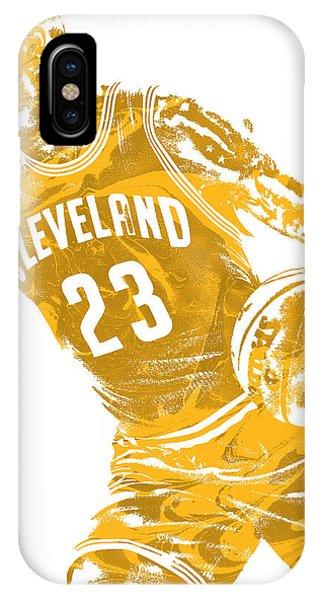 Tickets iPhone Case - Lebron James Cleveland Cavaliers Pixel Art 20 by Joe Hamilton