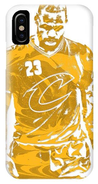 Lebron James Cleveland Cavaliers Pixel Art 21 IPhone Case