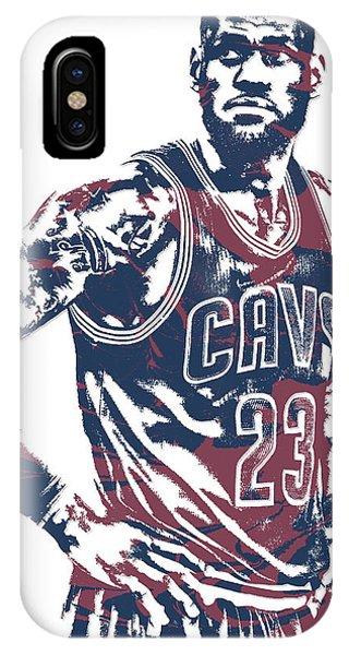 Lebron James Cleveland Cavaliers Pixel Art 25 IPhone Case