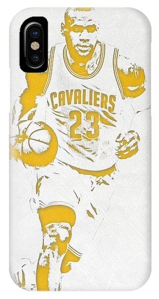Lebron James Cleveland Cavaliers Pixel Art 5 IPhone Case