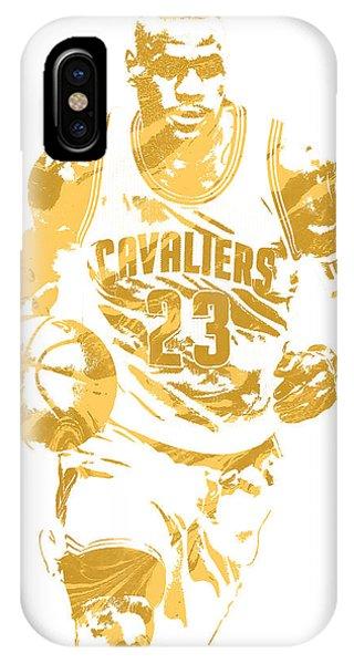 Tickets iPhone Case - Lebron James Cleveland Cavaliers Pixel Art 7 by Joe Hamilton
