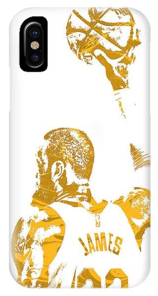 Tickets iPhone Case - Lebron James Cleveland Cavaliers Pixel Art 71 by Joe Hamilton