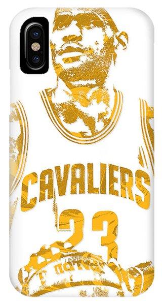 Lebron James Cleveland Cavaliers Pixel Art 8 IPhone Case