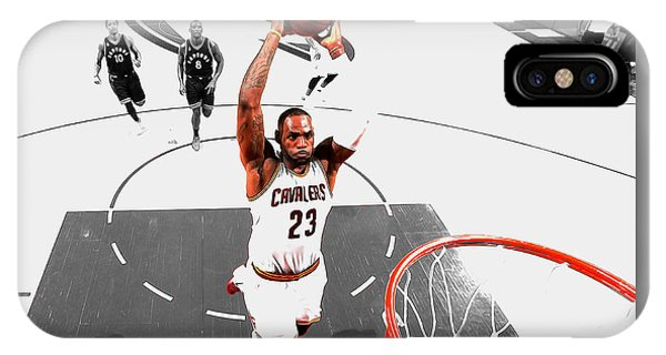 Kyrie Irving iPhone Case - Lebron James Flight Path by Brian Reaves