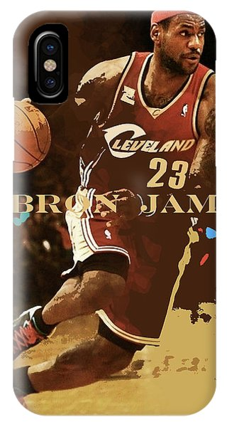 Kyrie Irving iPhone Case - Lebron James, King James, Cleveland Cavaliers by Thomas Pollart