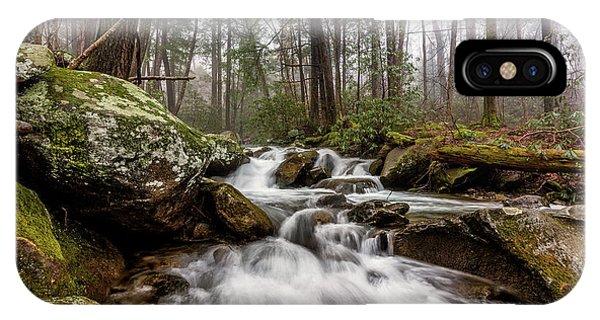 Bear Creek iPhone Case - Leconte Creek by Everet Regal