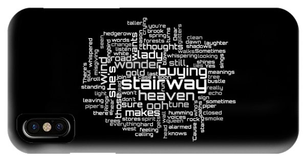 Led Zeppelin - Stairway To Heaven Lyrical Cloud IPhone Case