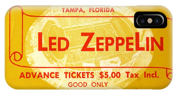 Music iPhone Case - Led Zeppelin Ticket by David Lee Thompson