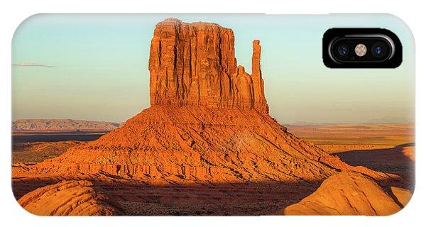 Left Mitten Sunset - Monument Valley IPhone Case
