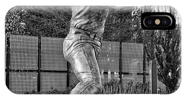 Lefty - Phillie Steve Carlton In Black And White IPhone Case