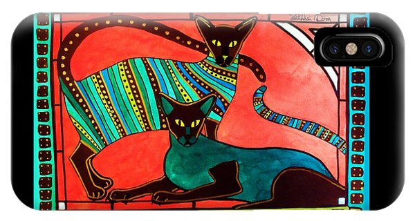 Legend Of The Siamese - Cat Art By Dora Hathazi Mendes IPhone Case