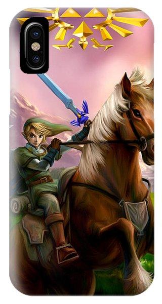 Legend Of Zelda- Link And Epona IPhone Case
