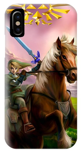 Legend Of Zelda- Link And Epona Phone Case by Becky Herrera