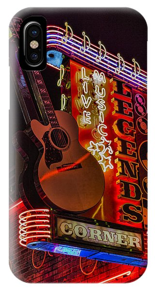 Guitar Legends iPhone Case - Legends Corner Nashville by Stephen Stookey