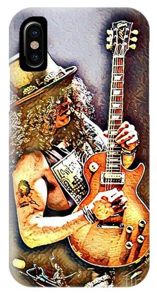 Mtv iPhone Case - Legends Of Rock - Slash - Sweet Child by Scott D Van Osdol