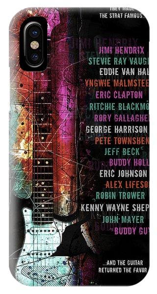 Guitar Legends iPhone Case - Legends Of The Strat by Gary Bodnar