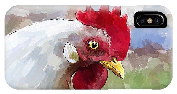 Leghorn Hen IPhone Case