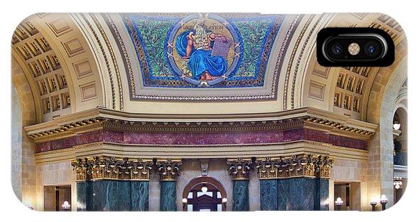 Legislation Mural - Capitol - Madison - Wisconsin IPhone Case