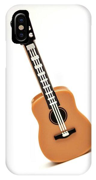 Strum iPhone Case - Lego Guitar by Samuel Whitton