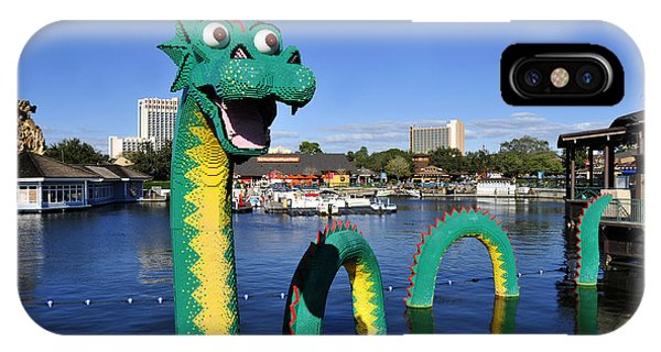 iPhone Case - Lego Dragon Downtown Disney by David Lee Thompson