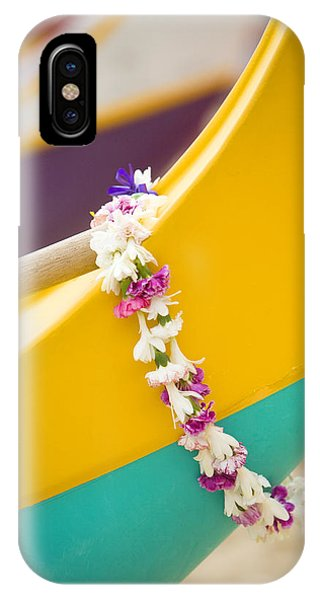 Lei Draped Over Outrigger IPhone Case
