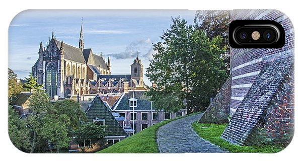 Leiden, The Church And The Castle IPhone Case