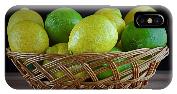 Lemon And Lime Basket IPhone Case